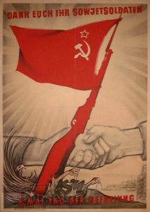 Plakat Sowjetsoldat DDR