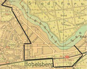 Rekonstruktion Sperrgebiet Neubabelsberg 1945 bis 1952.